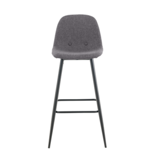 FLY-tabouret bar gris/noir