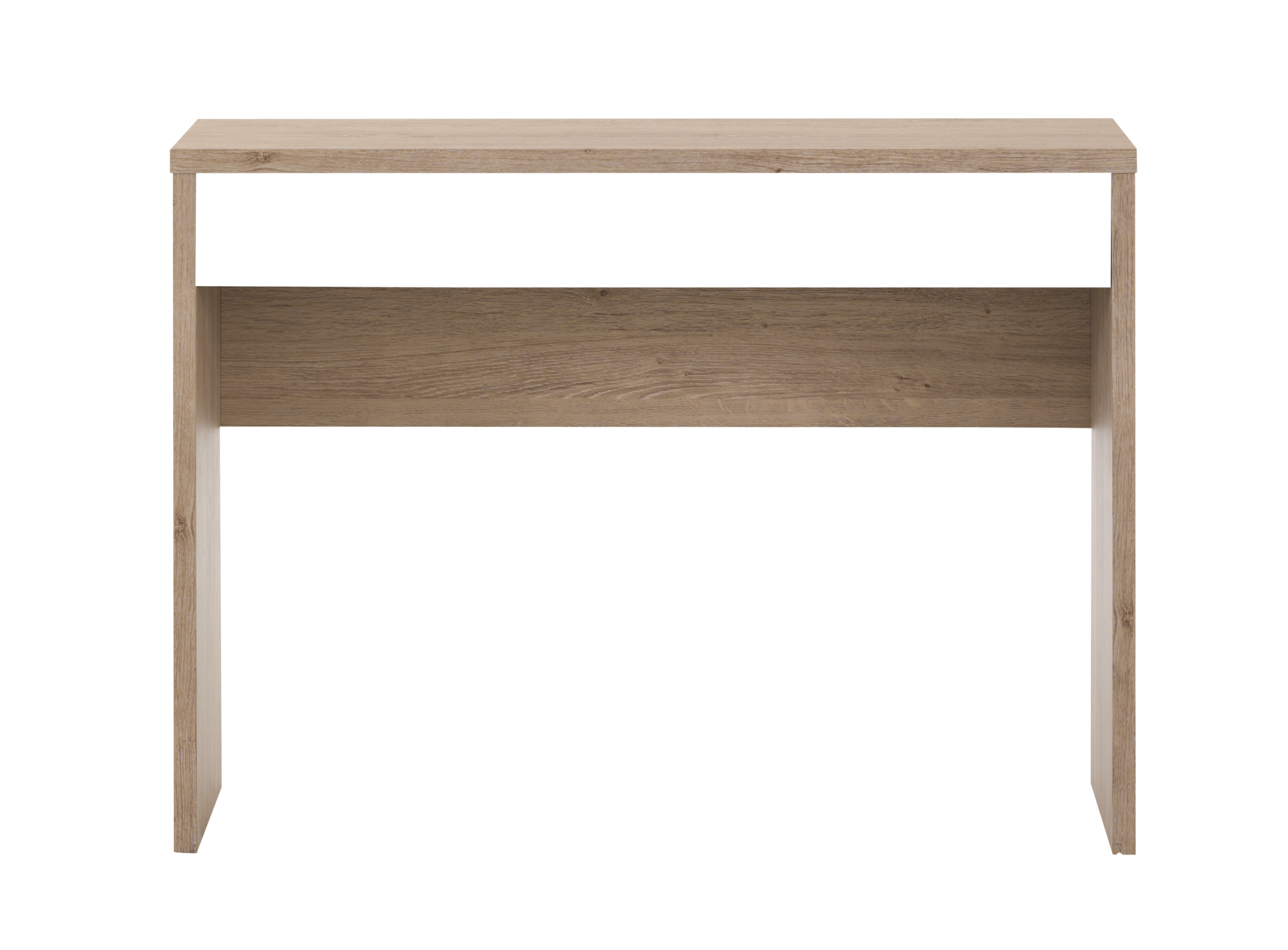 Console chene console salon s jour meuble fly for Console salon