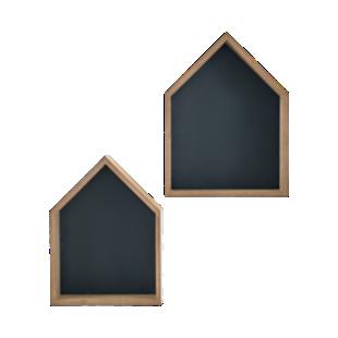 FLY-lot de 2 etageres murales bois/noir