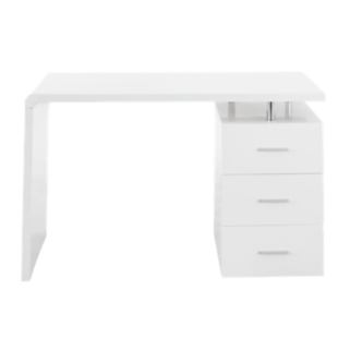 bureau l120 laque blanc fly. Black Bedroom Furniture Sets. Home Design Ideas