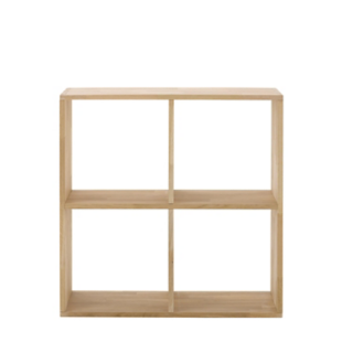 FLY-etagere 2x2 cases chene