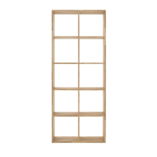 FLY-etagere 2x5 cases chene