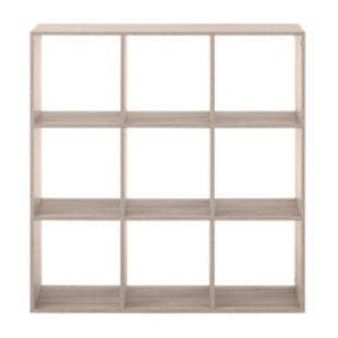 FLY-etagere 3x3 cases chene