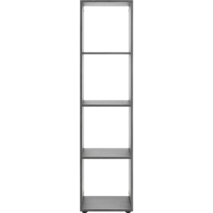 FLY-etagere 1x4 cases chene grise
