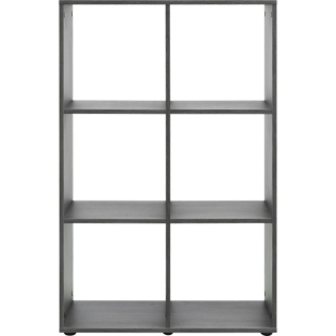 FLY-etagere 2x3 cases chene grise