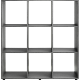 FLY-etagere 3x3 cases chene grise