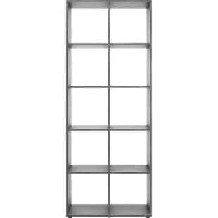 FLY-etagere 2x5 cases chene grise