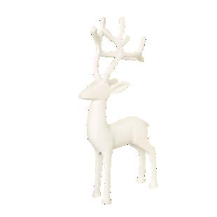 FLY-deco cerf h15cm blanc