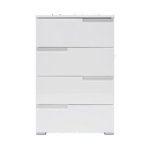 FLY-chiffonnier 4 tiroirs laque blanc