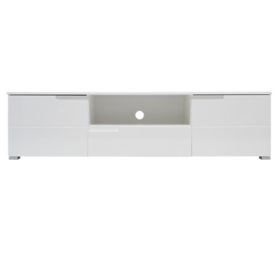 FLY-meuble tv 2 portes 1 tiroir laque blanc