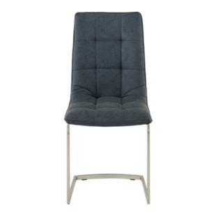 FLY-chaise assise anthracite/pieds inox