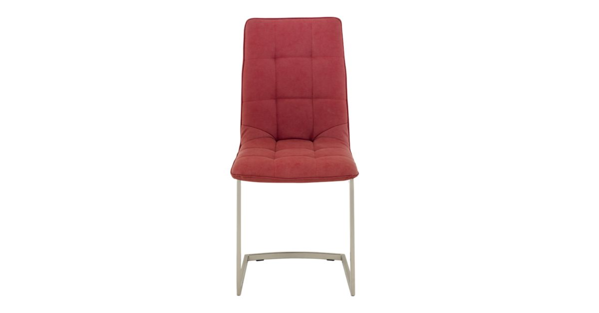 Chaise assise rouge pieds inox fly for Chaise fly rouge