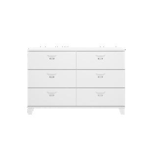 FLY-meuble de rangement 6 tiroirs blanc
