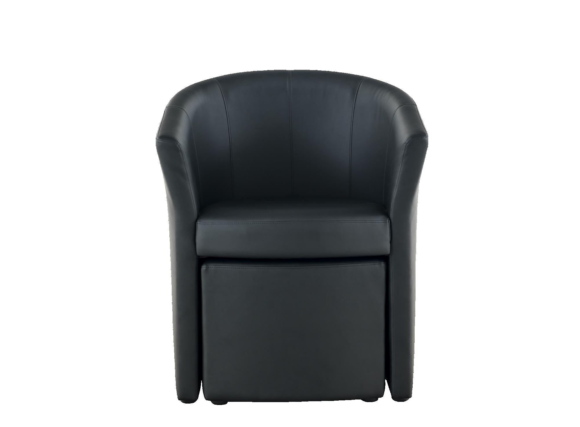 Fauteuil avec pouf noir fauteuil cat gories canap fly for Canape avec fauteuil