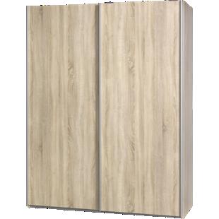 FLY-armoire 2 portes l150 p61 chene naturel