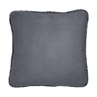 FLY-coussin polaire 45x45 gris avec point de cheval no