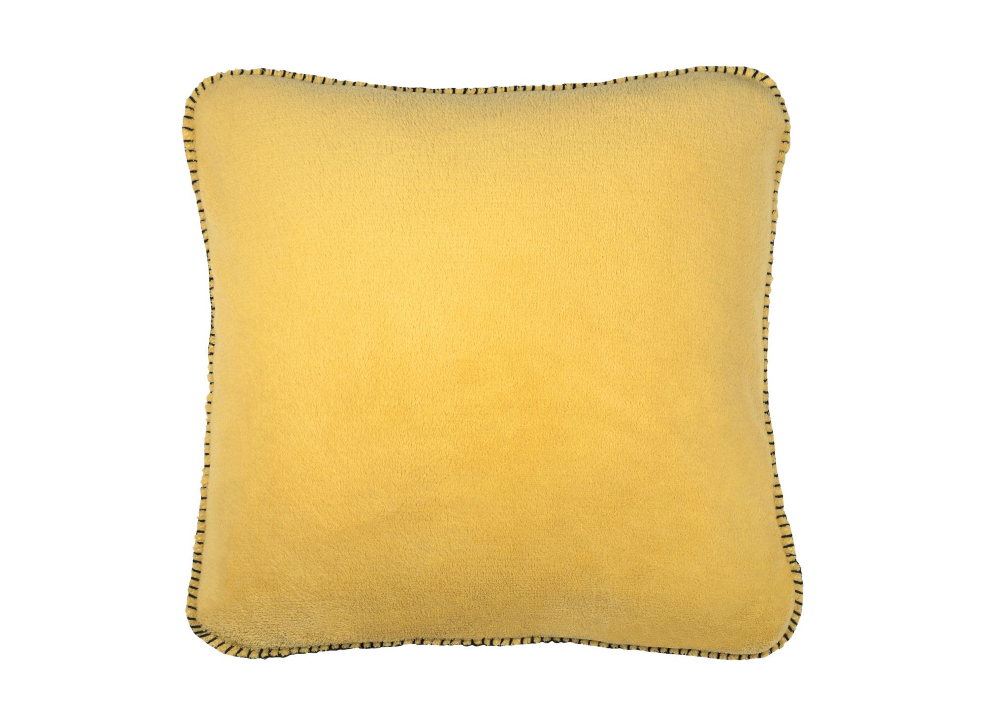 Coussin 45x45 100% polyester finition point de cheval coloris moutard ...
