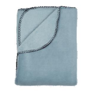 FLY-plaid polaire 150x230 celadon + point de cheval n