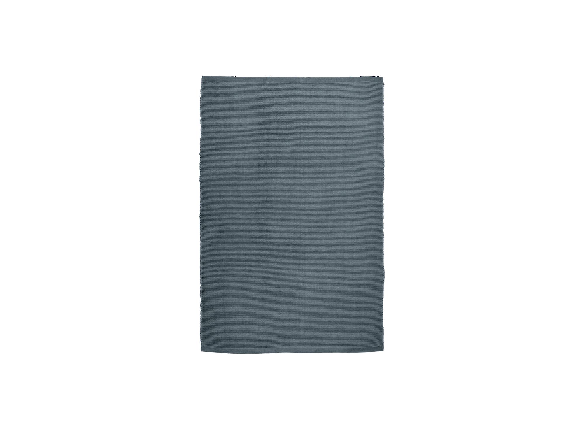 Tapis 60x90 100% coton coloris anthracite densite 950gr/m2 non lavab ...