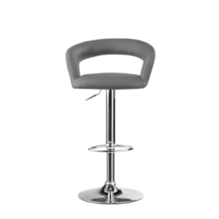 FLY-drink:tabouret bar pu gris/chr