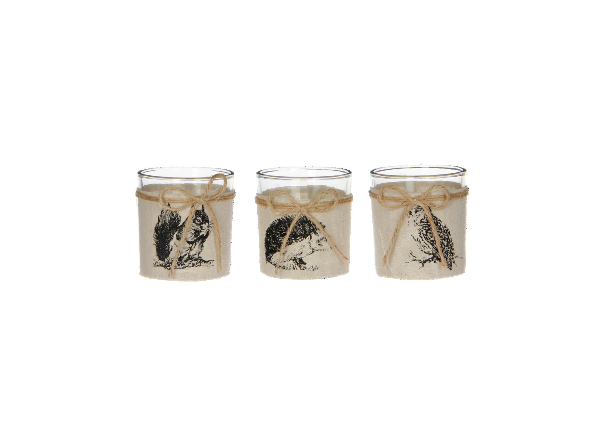 Photophore h8 en verre mecanique avec motif animaux - 3 modeles au ch ...