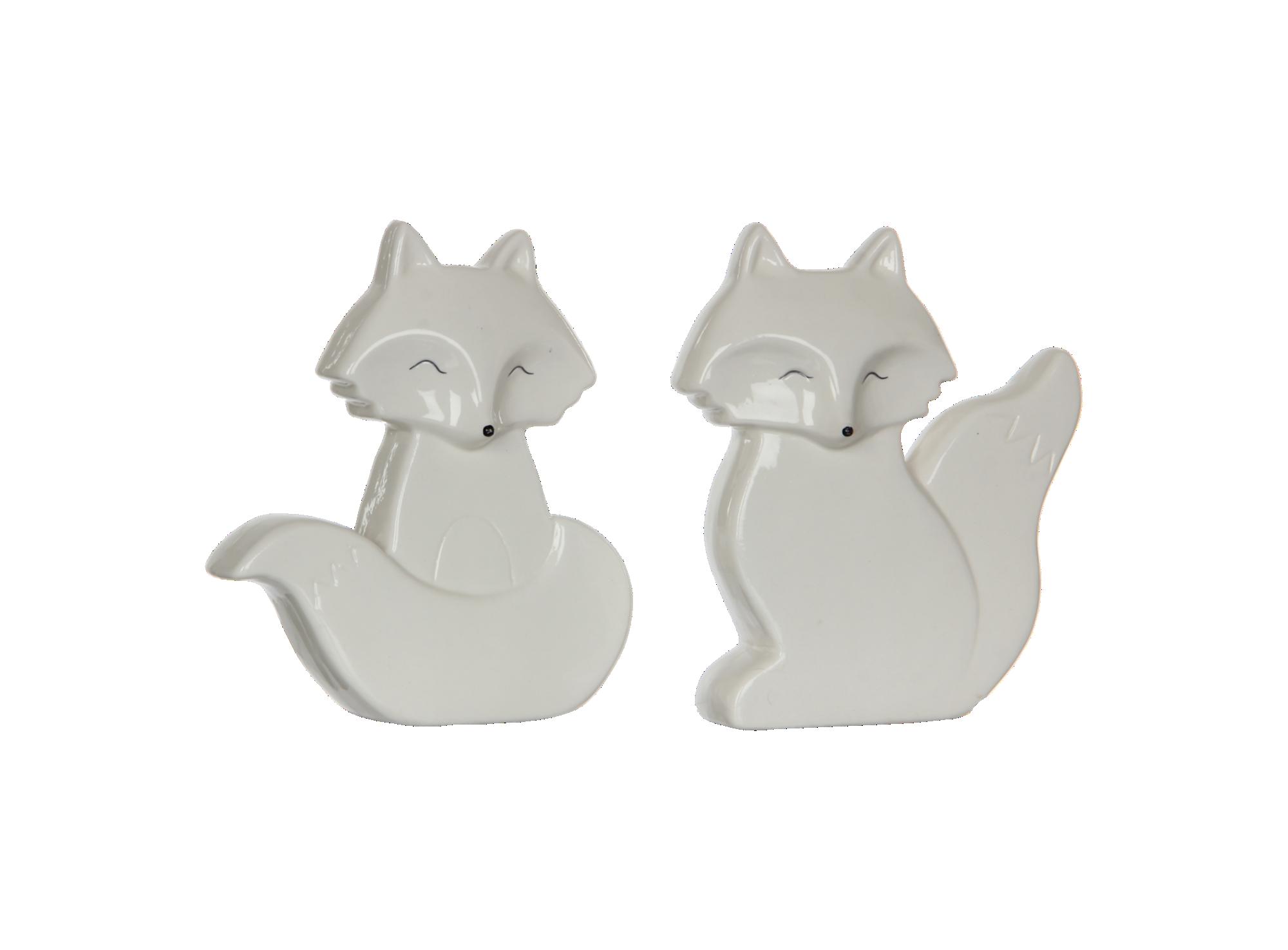 Deco renard h17 - coloris blanc - 2 modeles au choix
