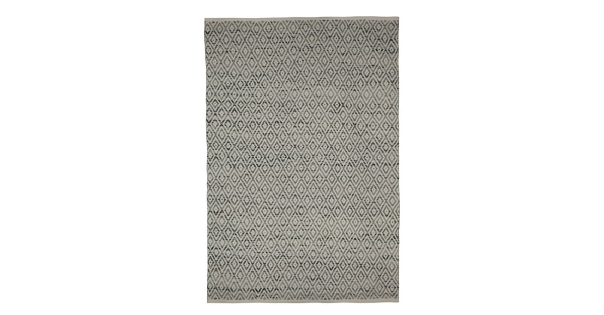 tapis laine coton 160x230 gris blanc fly. Black Bedroom Furniture Sets. Home Design Ideas