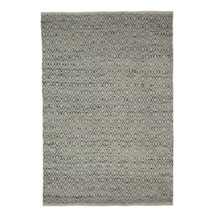 FLY-tapis laine/coton 160x230 gris/blanc