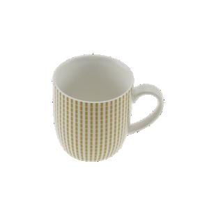 FLY-mug 33cl en porcelaine or/blanc