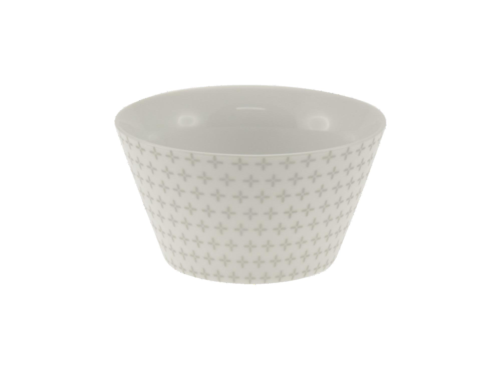 Bol conique 55cl en porcelaine - coloris blanc et argent - resiste au ...