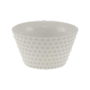 FLY-bol conique 55cl en porcelaine argent/blanc