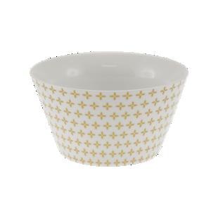 FLY-bol conique 55cl en porcelaine or/blanc