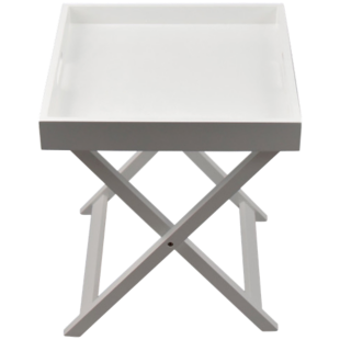 FLY-table plateau pliante h46cm blanc