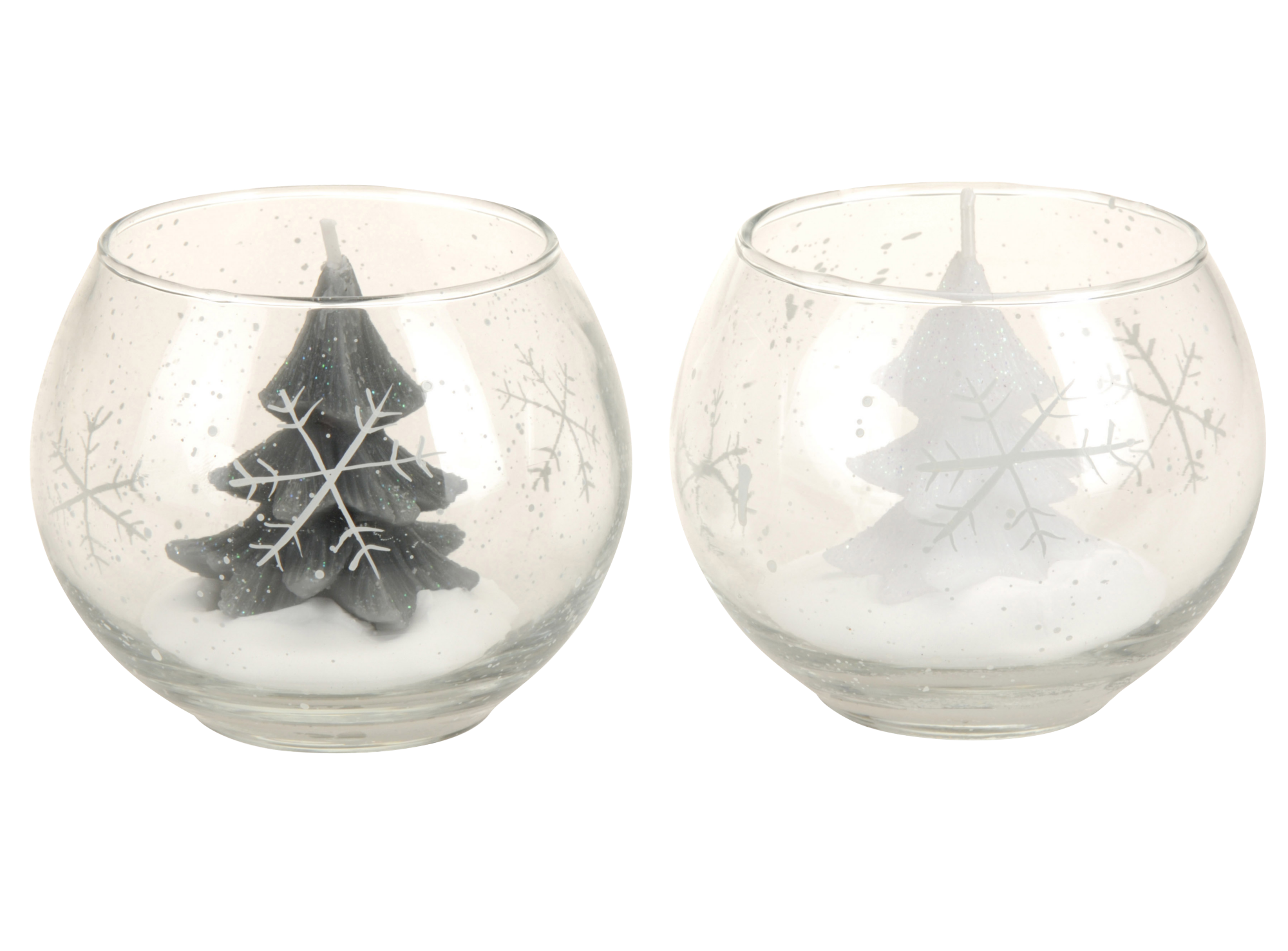 Bougie en paraffine en forme de sapin dans verre en verre h8cm - 2 co ...