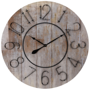 FLY-horloge d88cm bois