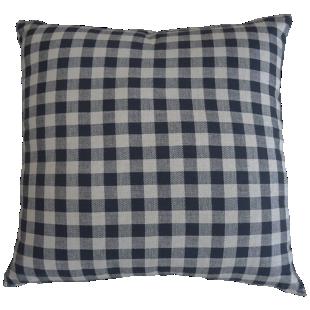 FLY-coussin coton 45x45 noir/beige