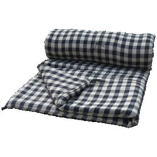 FLY-duvet plat coton 100x180 pique noir/beige