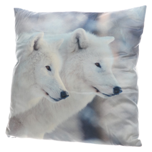 FLY-coussin 45x45 suedine loups