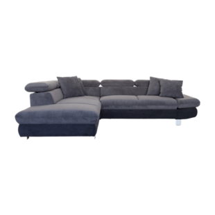 FLY-angle gauche convertible tissu anthracite / noir