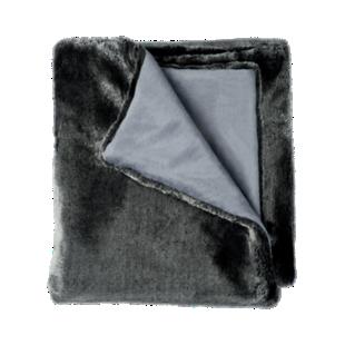 FLY-plaid fourrure 125x150 anthracite