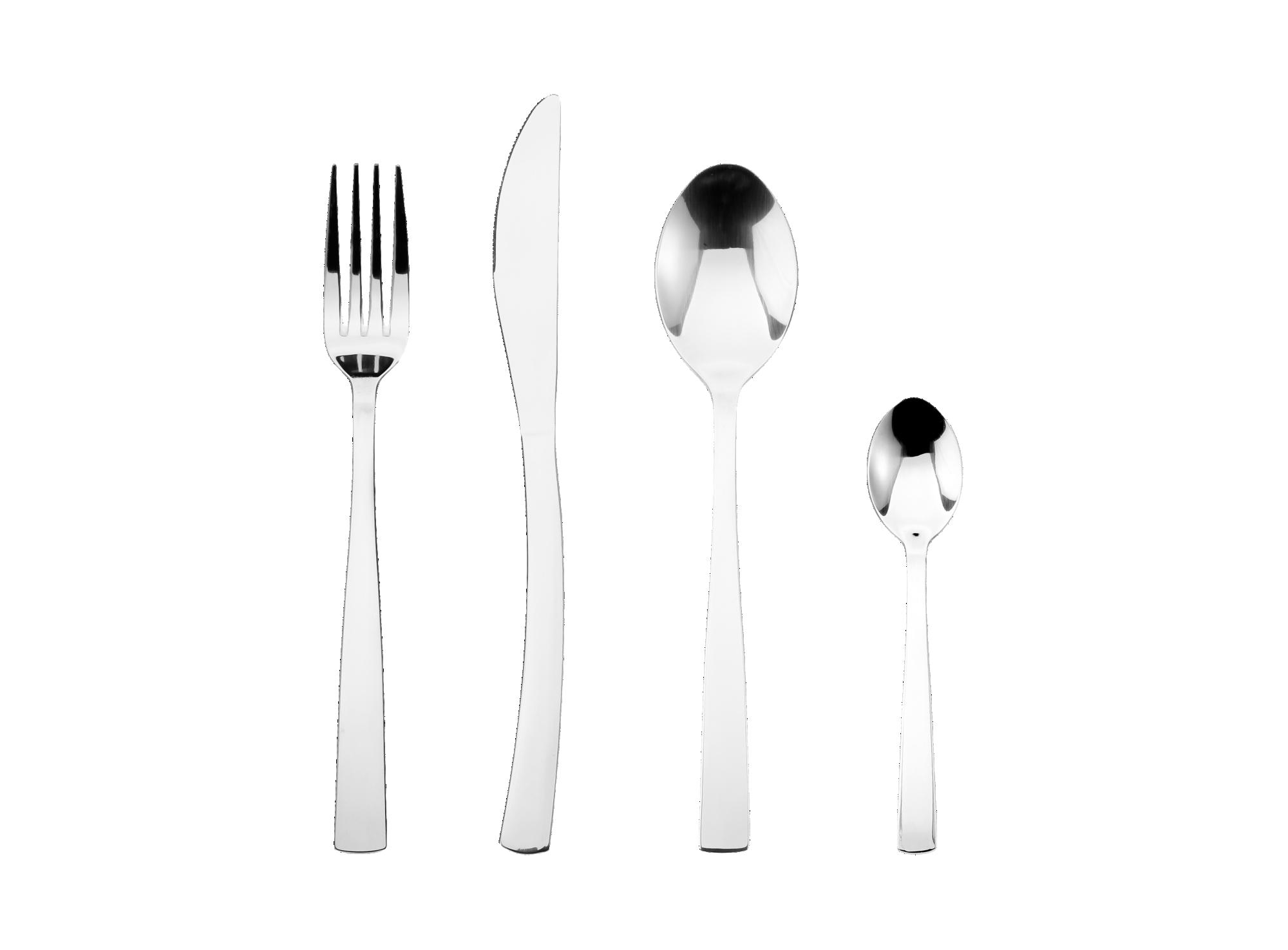 Menagere 24 pieces composee de : 6 couteaux,6 fourchettes, 6 cuiller ...