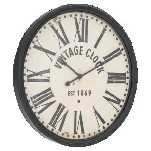 FLY-horloge metal d113cm