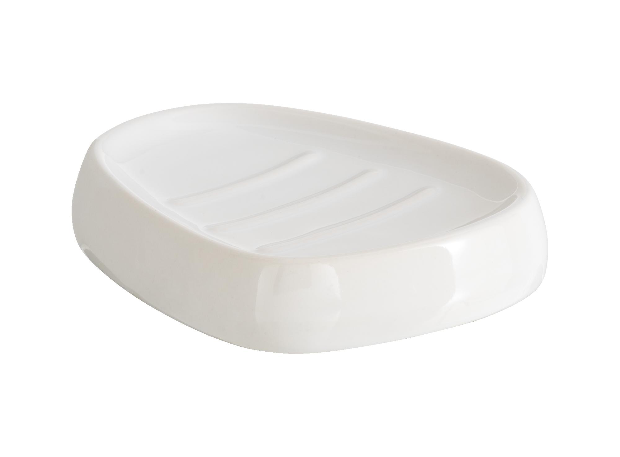 Porte savon blanc en ceramique 12x9.5cm