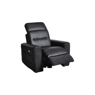 FLY-fauteuil relax electrique pu noir / tissu noir