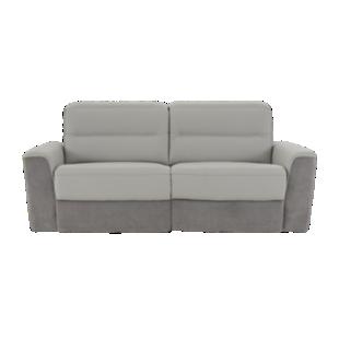 FLY-canape 2,5places relax electrique gris clair/gris