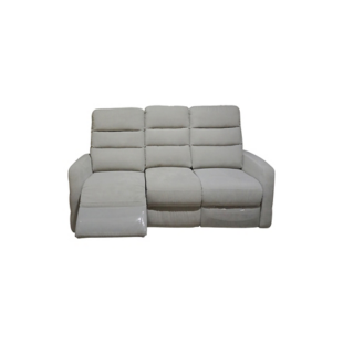 FLY-canape 3 places relax elect.tissu gris/fil blanc