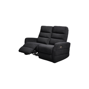 FLY-canape 2 places relax elect.tissu noir/fil blanc