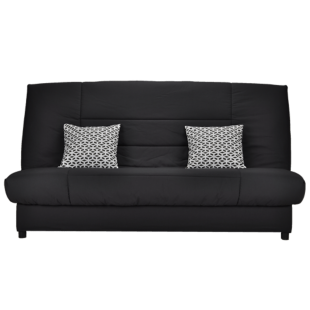 FLY-banquette clic clac anthracite + 2 coussins deco