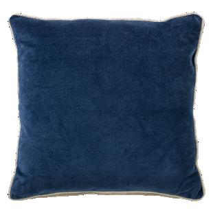 FLY-coussin velours 45x45 bleu nuit