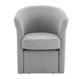 FLY-cabriolet + pouf tissu gris clair